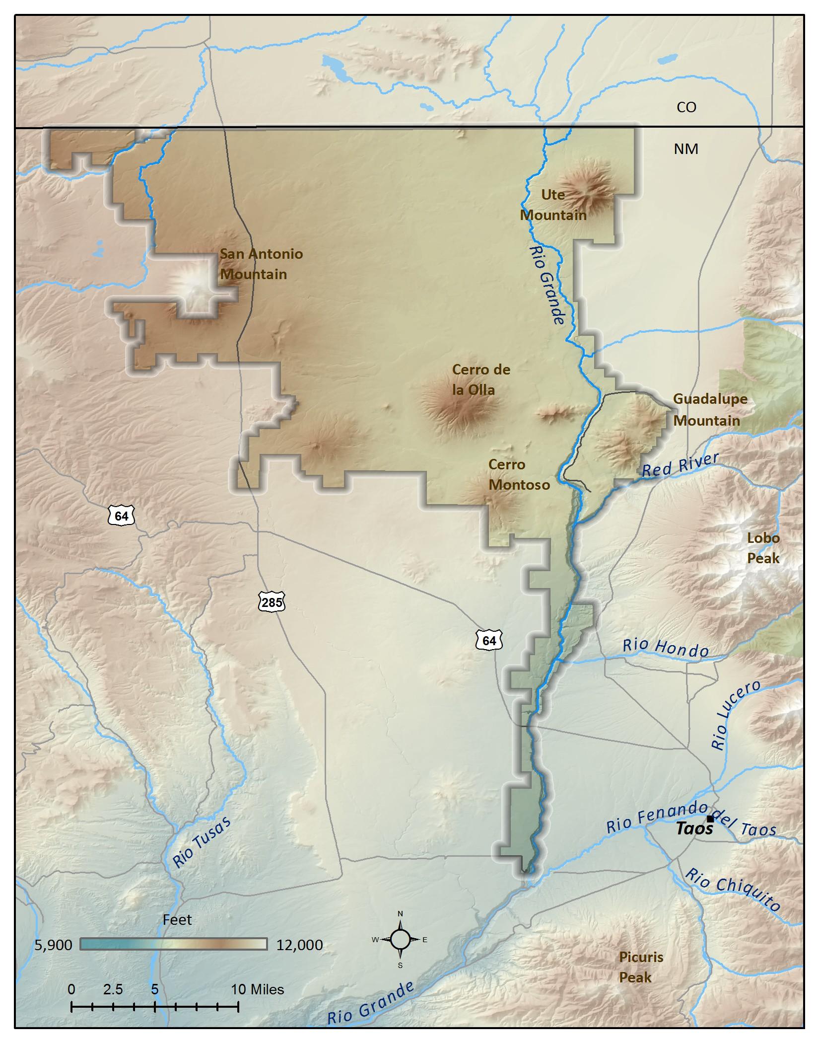 El Rio Grande Del Norte Map